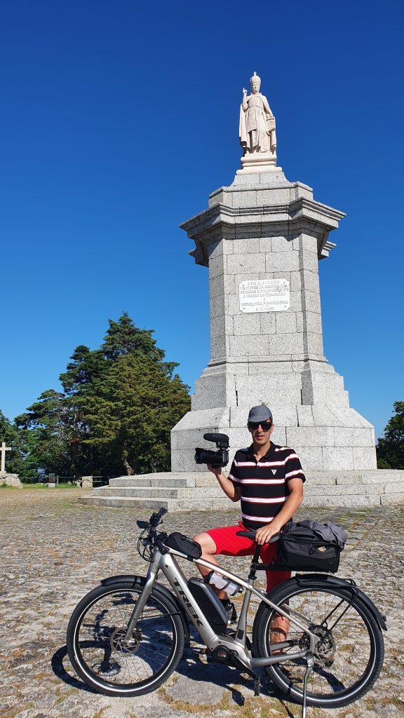 Bicicleta no Santuário da Penha